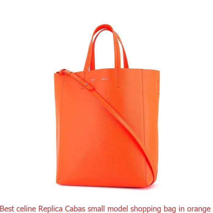 8edf6aba13 Best celine Replica Cabas small model shopping bag in orange leather ...
