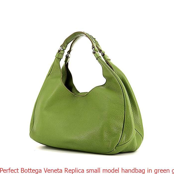 Perfect Bottega Veneta Replica small model handbag in green grained leather dd7a1786baf09