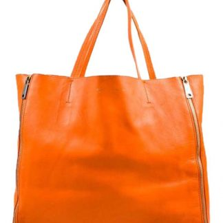 515c3d89989c Best Céline 7 Star Replica Horizontal Zipper Gusset Cabas Large Orange  Lambskin Tote celine bag sale ...