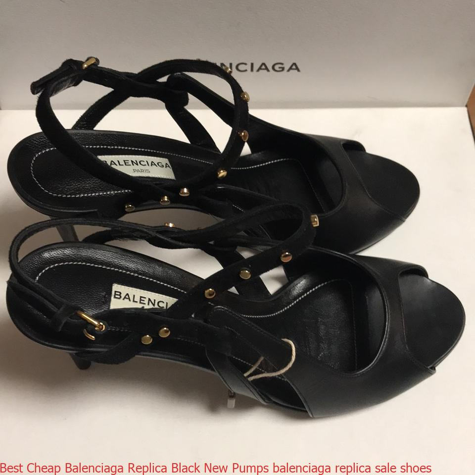 Best Cheap Balenciaga Replica Black New Pumps balenciaga replica sale shoes