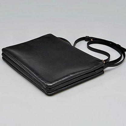 Best Cheap Céline 7 Star Replica Trio Large Clutch Black Lambskin Leather  Cross Body Bag fake designer bags china 01348d4526efa
