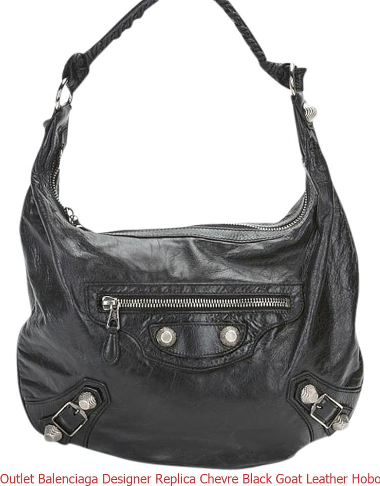 Outlet Balenciaga Designer Replica Chevre Black Goat Leather Hobo Bag  luxury 7 star replica handbags eae2a18106934