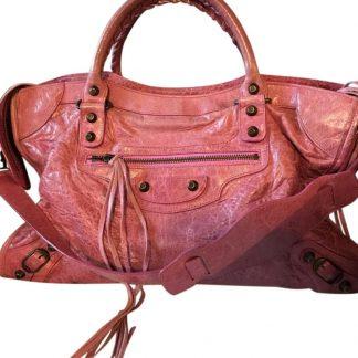 398a22a86d7 ... The factory direct Balenciaga 7 Star Replica Motorcycle City Pink  Leather Shoulder Bag balenciaga sock shoes ...