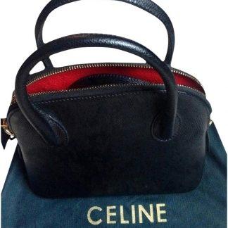 Wholesale Handbags Céline Knockoff Vintage Mini Genuine Black Leather  Shoulder Bag celine replica nano cdaf701142764